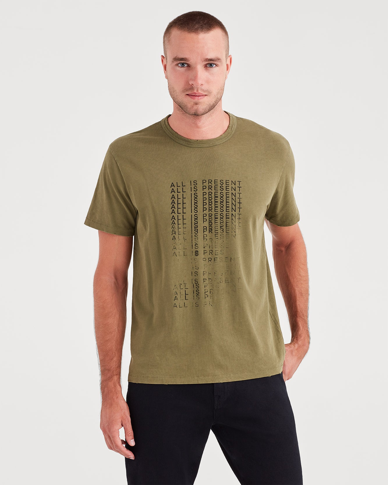 Image of Short Sleeve All Is Present Tee in Military Olive