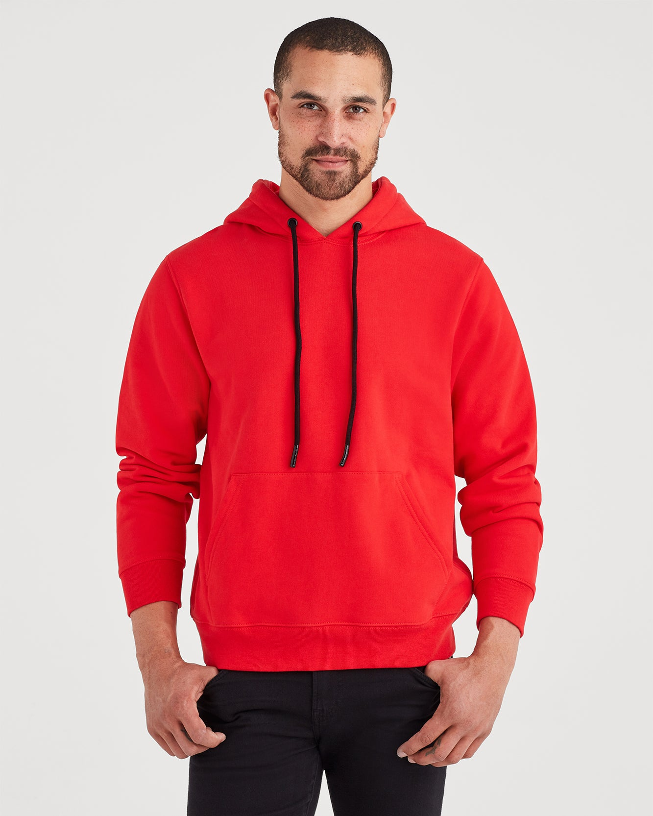 Image of Pull Over Hoodie in Red Flame