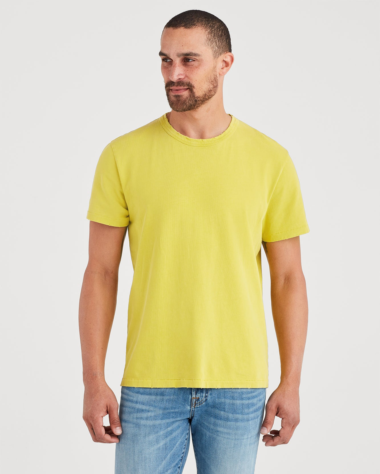 Image of Short Sleeve Vintage Tee in Sulpher Yellow