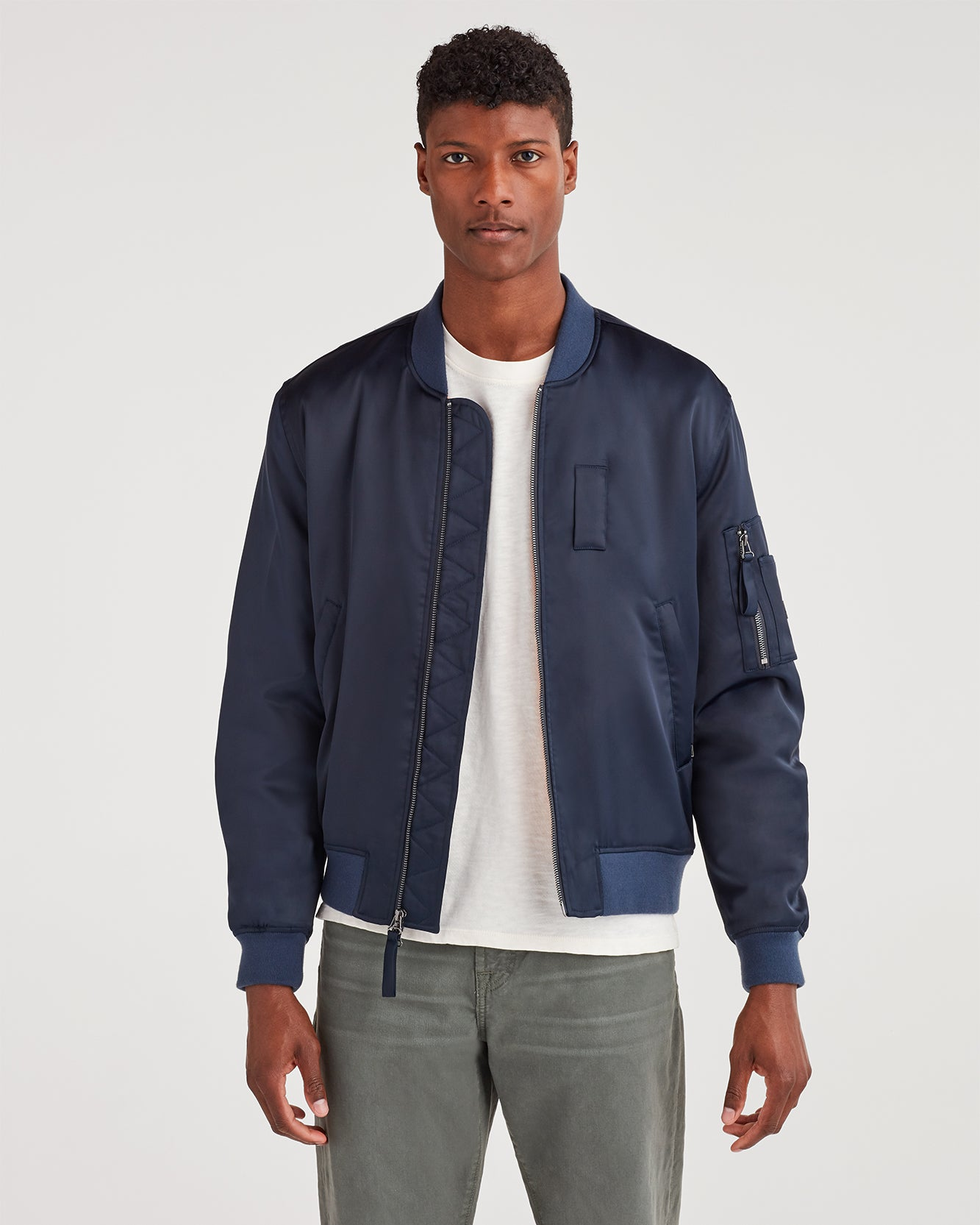 Image of Class-A Bomber Jacket in Midnight Navy
