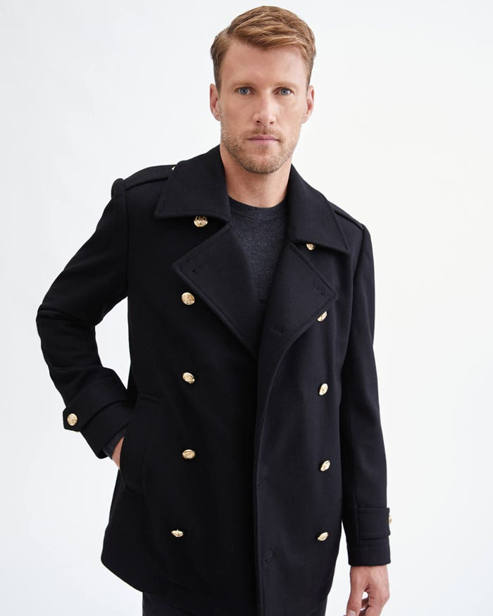 7 For All Mankind Wool Pea Coat