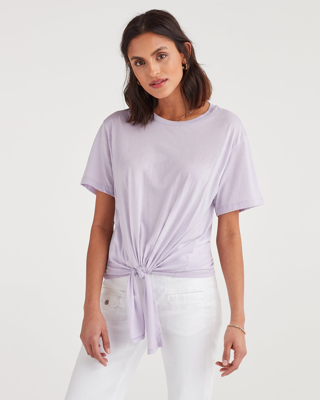 Image of Tunnel Front Tee in Lilac Mist