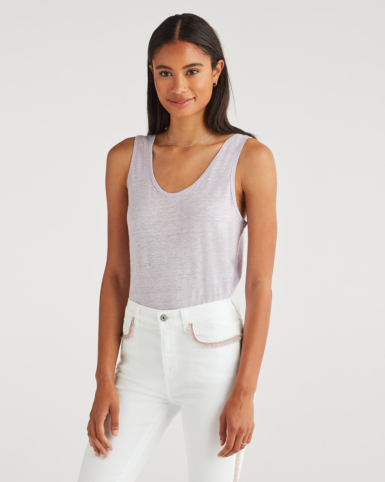 Image of Scoop Neck Tank in Lilac Mist