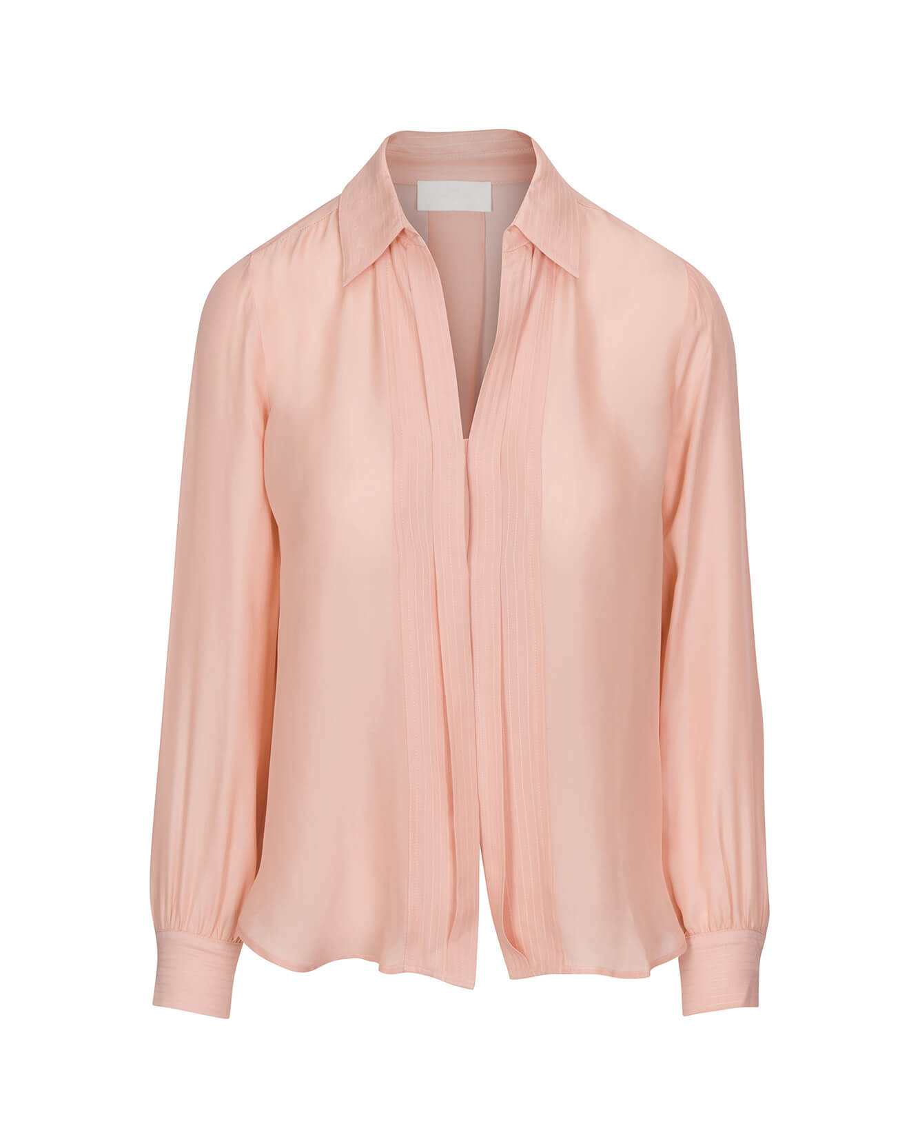 Image of Mini Placket Collared Shirt in Pink Dawn