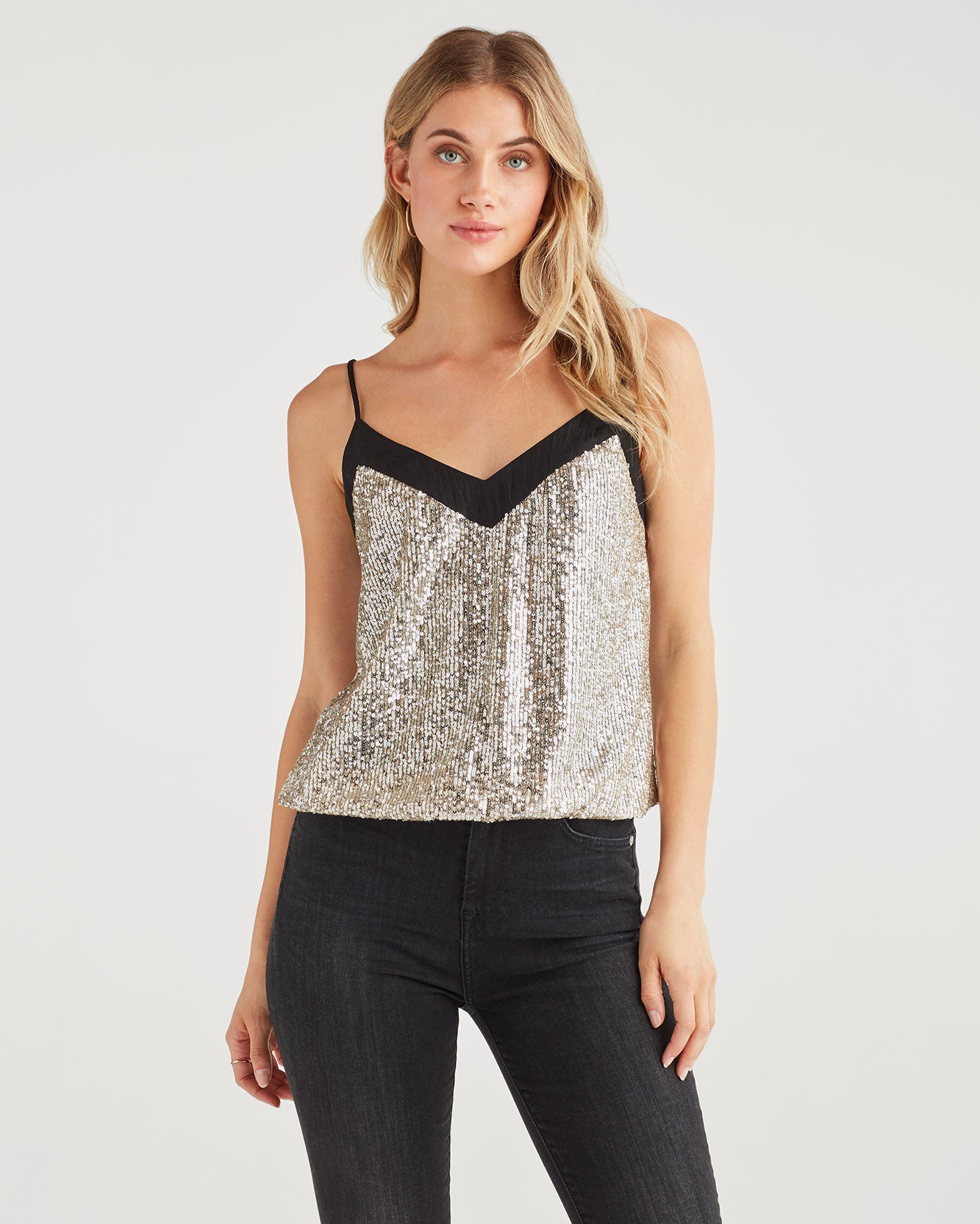 Image of Sequin Cami in Silver