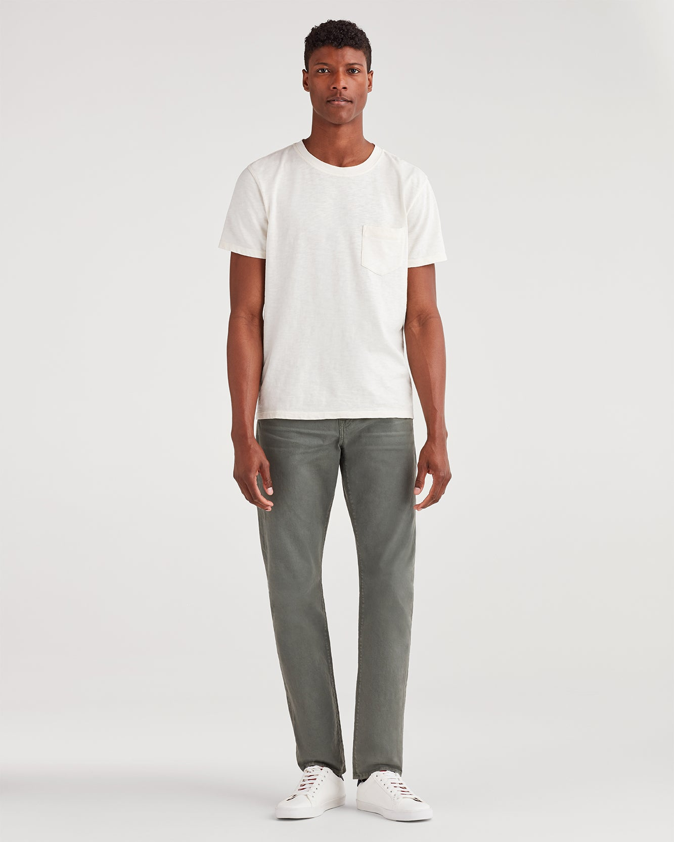 Image of Total Twill Adrien with Clean Pocket in Faded Spruce