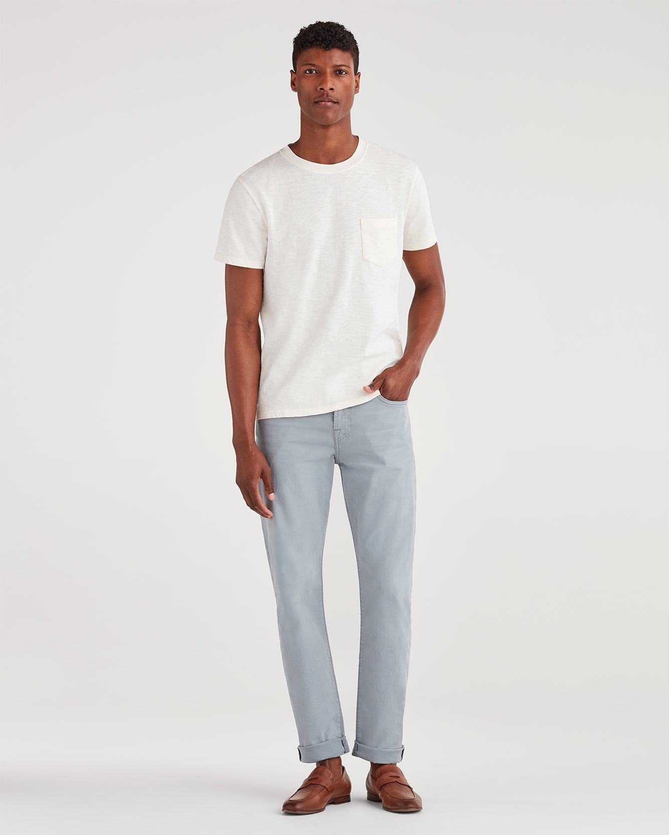 Image of Total Twill Adrien with Clean Pocket in Light Grey