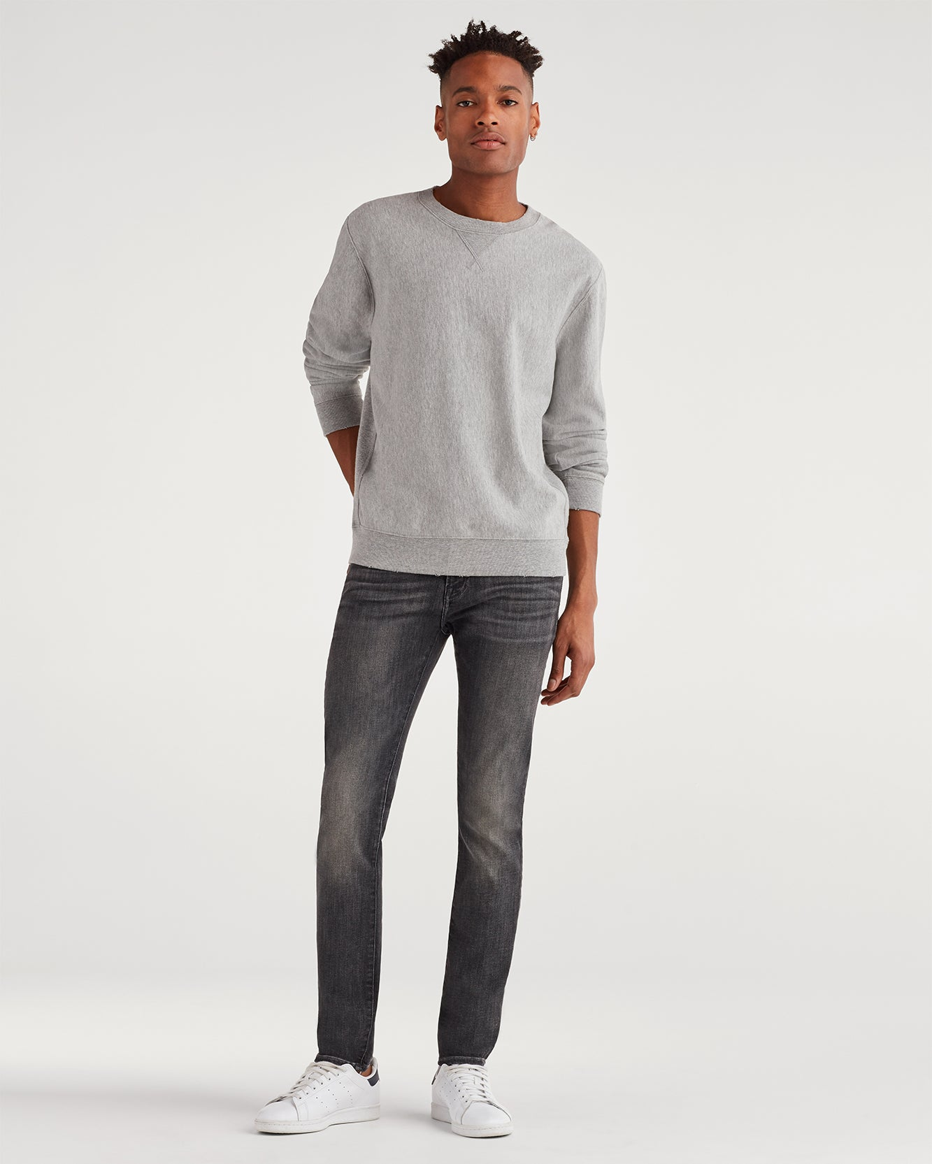 Image of Luxe Sport Skinny Paxtyn with Clean Pocket in Authentic Vicious Grey