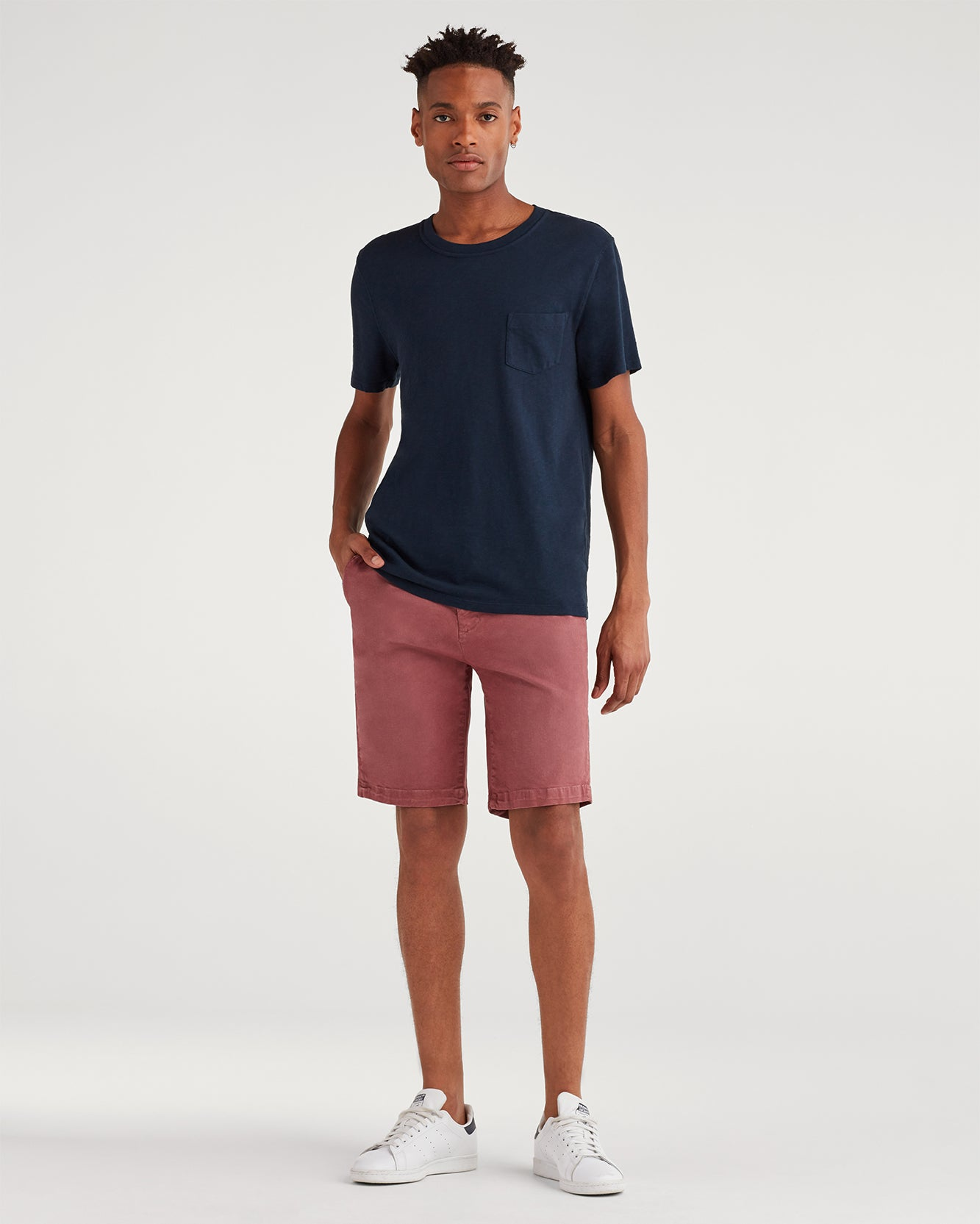 "Image of 9"" Inseam Chino Short in Dusty Rose"