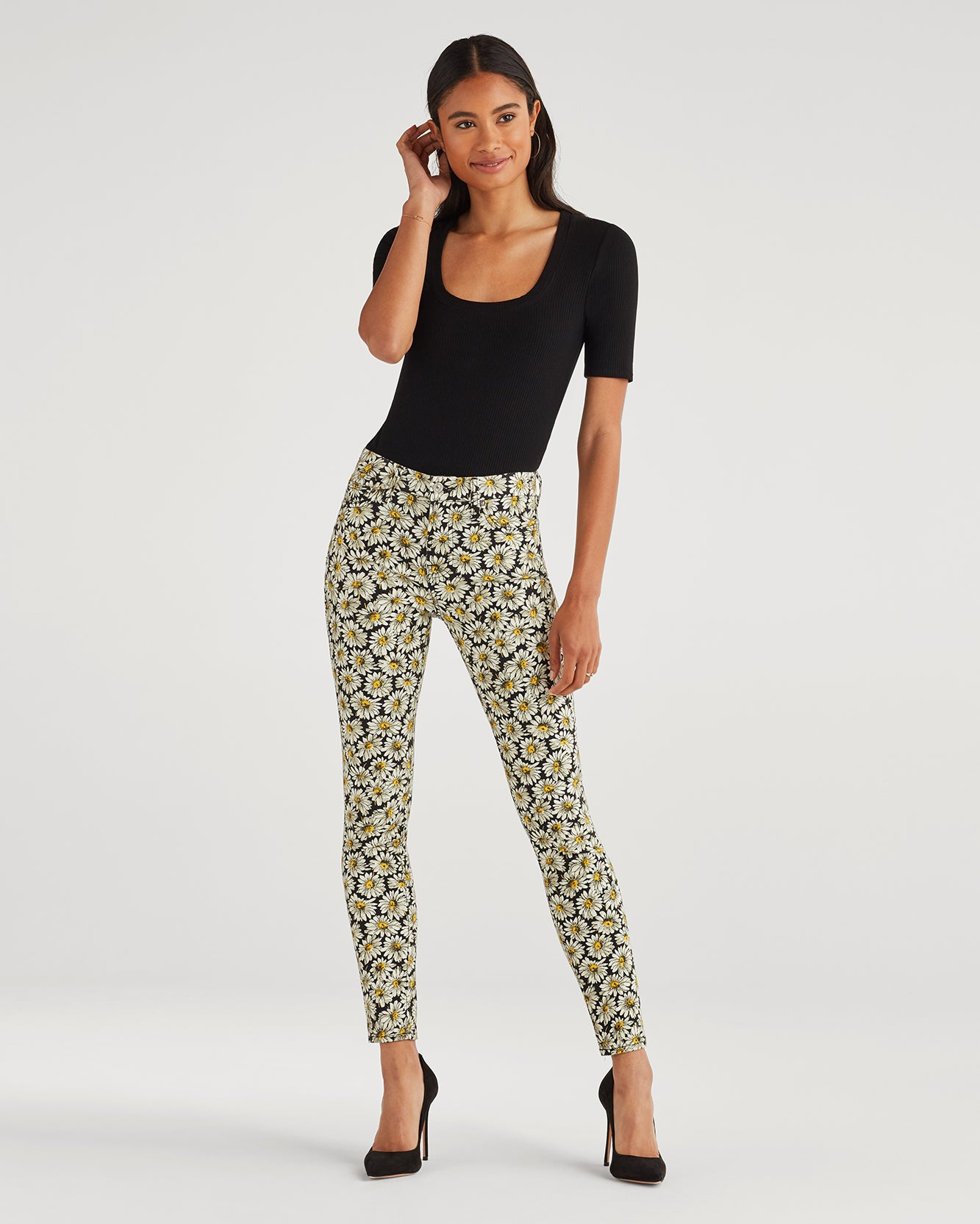 Image of Ankle Skinny in Lazy Daisy Print