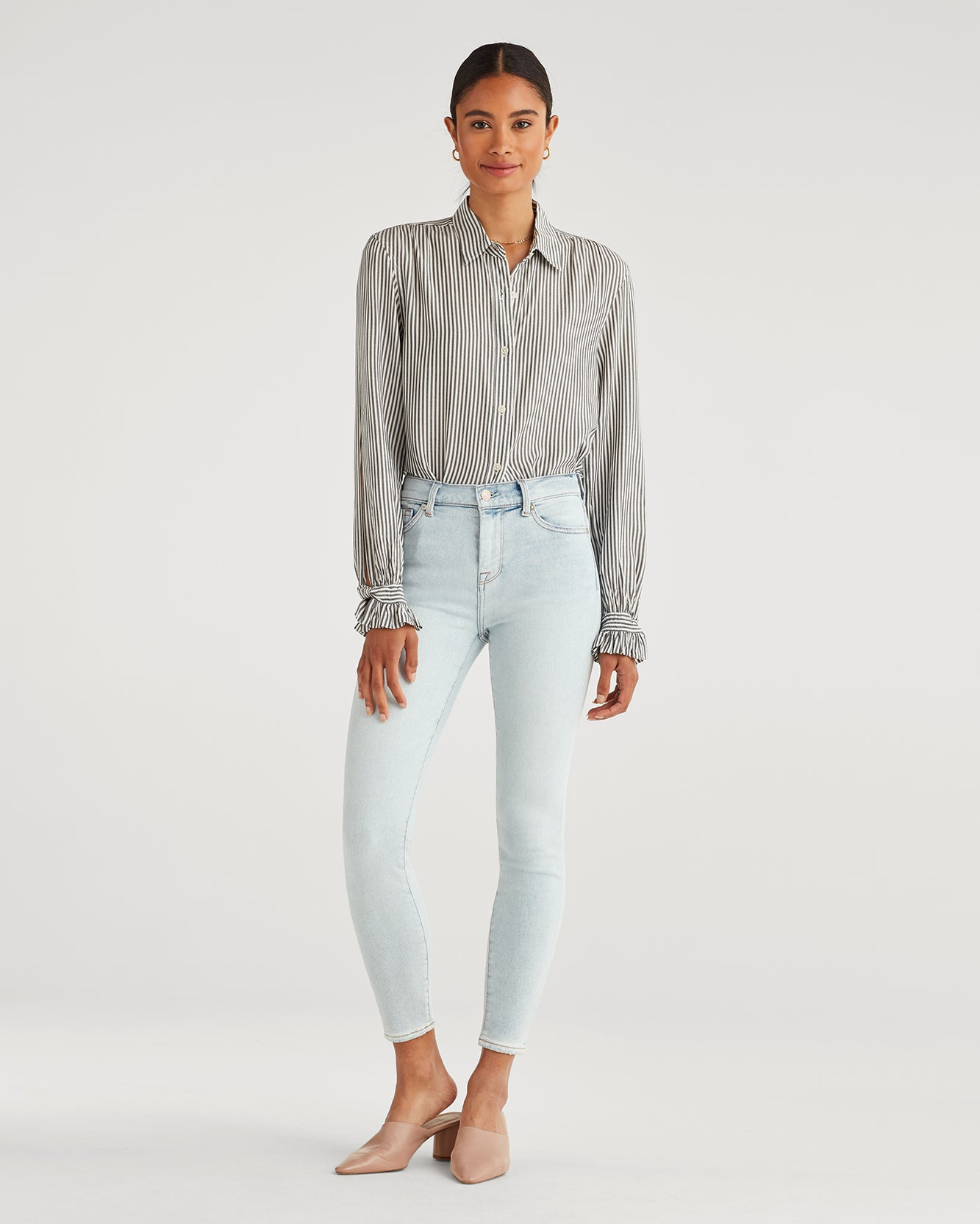 Image of Luxe Vintage High Waist Ankle Skinny in Cloud