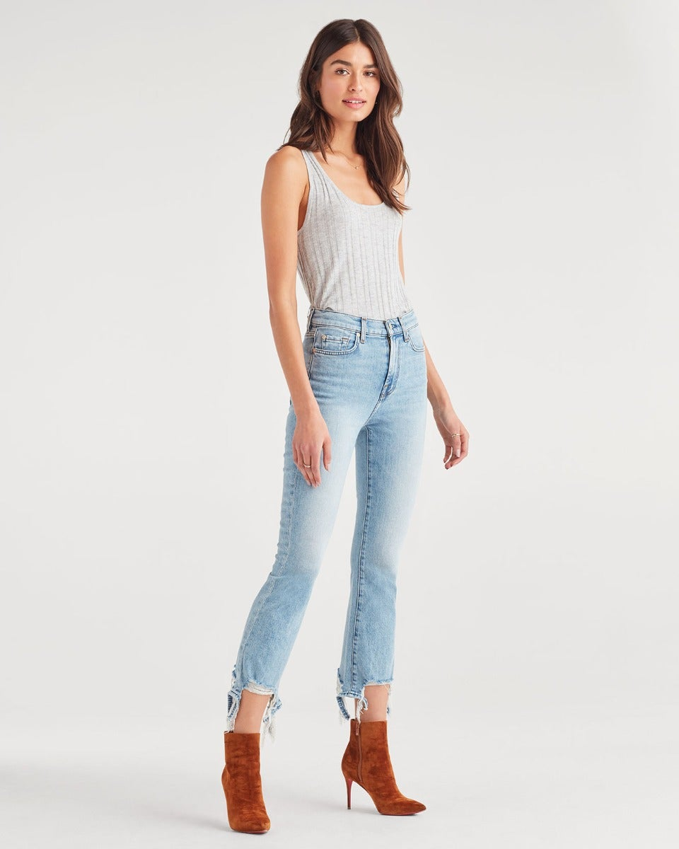Image of High Waist Slim Kick with Long Side Hem in Vail